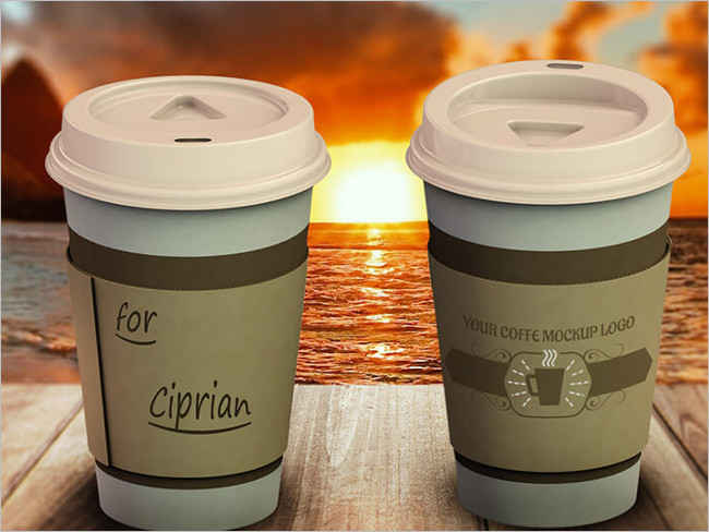 Coffee Cup Logo Mockup Design