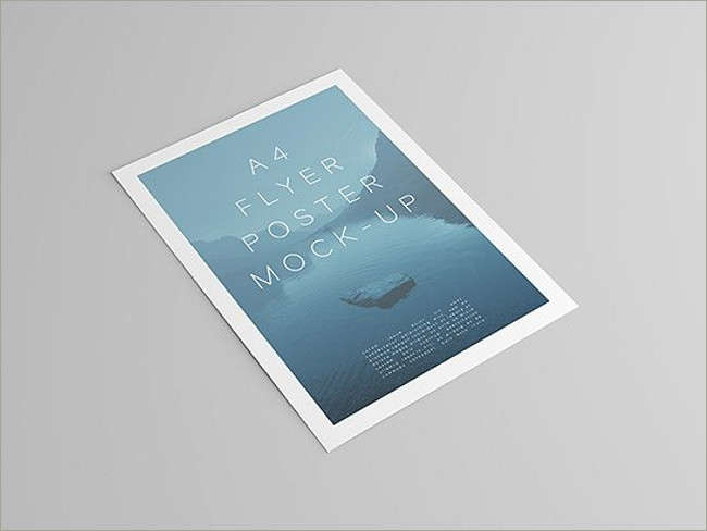 Customizable A4 Flyer Mock-up