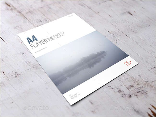 Free A4 Flyer Mock-up