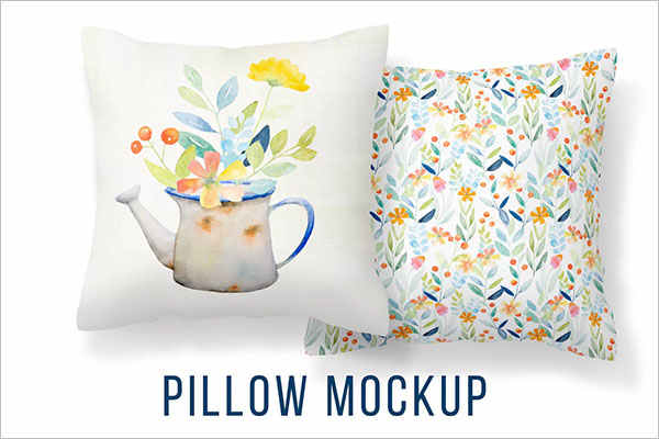 Retro Pillow Cover Mockup Template