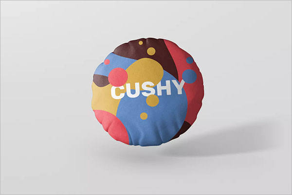 Round Pillow Mockup Template