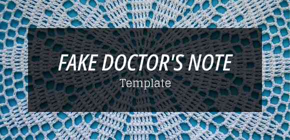 Fake doctor note template free samples