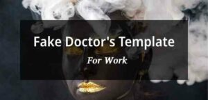 Free Doctor's note template for work