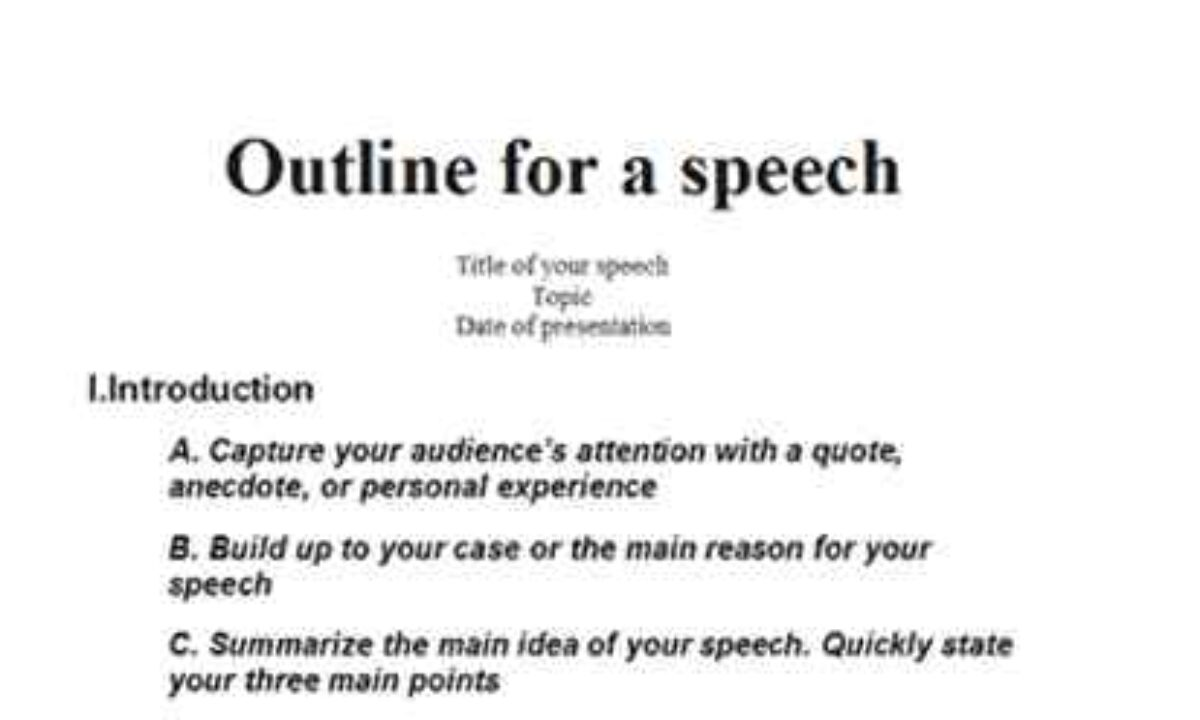 Speech Writing Template from www.smartcolorlib.com