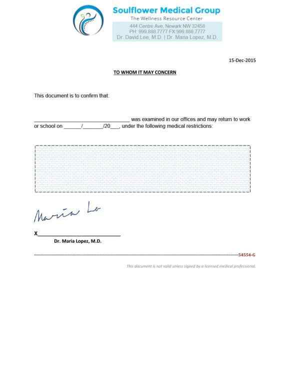 22+ Fake Doctor's Note Templates for School | Sample ...