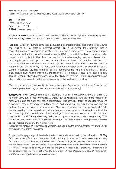 Red Research Proposal Sample