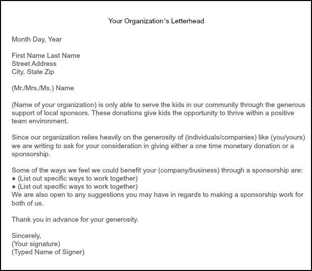 appreciation letter to my sponsor