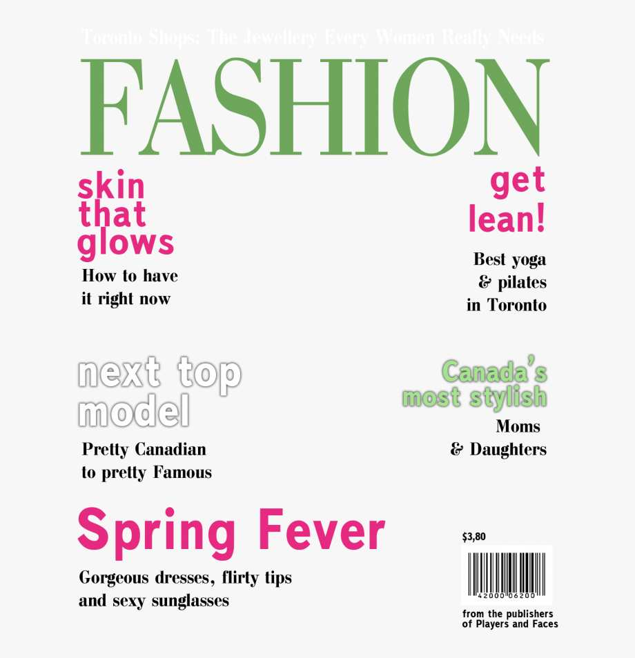Blank Magazine Cover Template Clipart Magazine Vogue