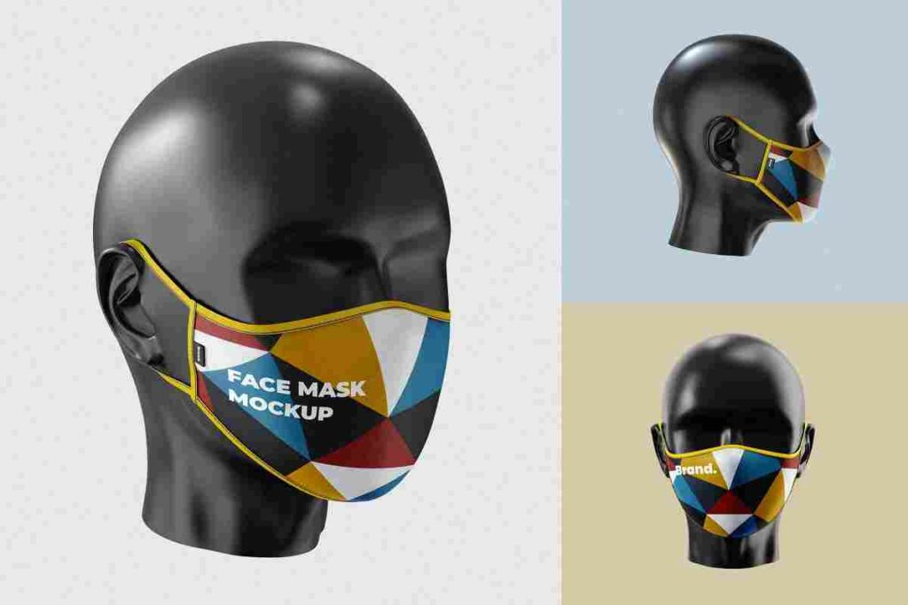 Easy Customize Face Mask Mockup Template